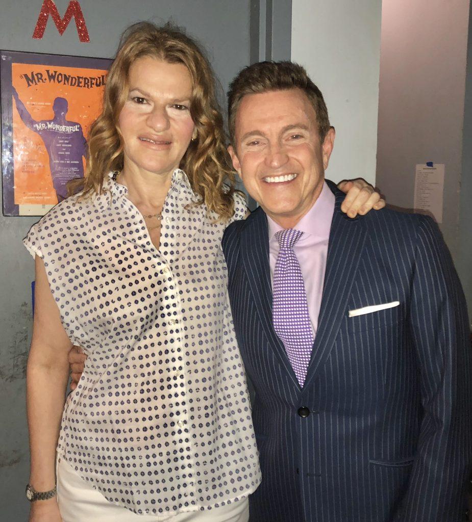 With Sandra Bernhard