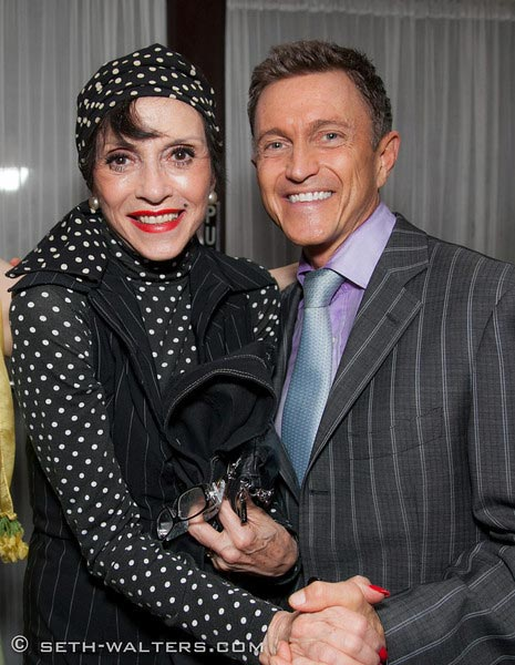 With Lilliane Montevecchi